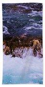 Flowing Over The Rocks Bath Towel