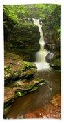 Flowing Toward The Red Rocks Bath Towel