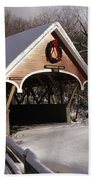 Flume Covered Bridge - Lincoln New Hampshire Usa Bath Towel