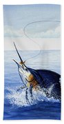 Fly Fishing For Sailfish Bath Towel