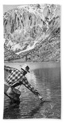 Fly Fishing In A Mountain Lake Bath Towel