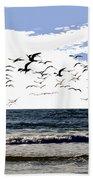 Flying Gulls Bath Towel