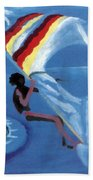 Flying Windsurfer Hand Towel