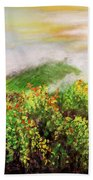 Fog On The Vines Bath Towel