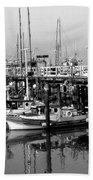 Foggy Boats Bath Towel
