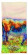 Foggy Mist Cows #0090 Arty Bath Towel