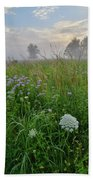 Foggy Prairie In Glacial Park In Mchenry County Bath Towel