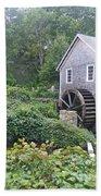 Foggy Stony Brook Grist Mill Cape Cod Bath Towel