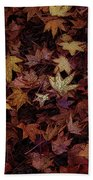 Foil Leaves Hand Towel