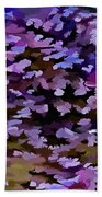 Foliage Abstract In Blue, Pink And Sienna Bath Towel