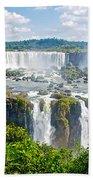 Foliage In And Around Waterfalls In Iguazu Falls National Park-brazil  Bath Towel