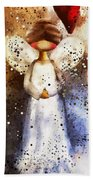 Folk Art Angel Bath Towel
