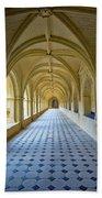 Fontevraud Abbey Cloister, Loire, France Bath Towel