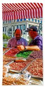 Food Booth In Valparaiso Square-chile Bath Towel