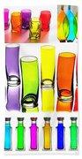 Food Coloring Ensemble-rainbow Theme Bath Towel