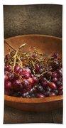 Food - Grapes - A Bowl Of Grapes  Bath Towel