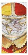Fools Cap World Map, C1590 Bath Towel