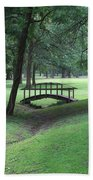Foot Bridge In The Park Bath Towel