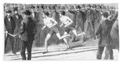 Foot Race, 1868 Bath Towel