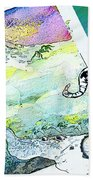 Football Derby Rams On Holidays In The Mountains Bath Towel