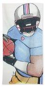 Football Player Bath Towel by Loretta Nash