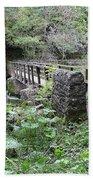Footbridge At Millers Dale Bath Towel
