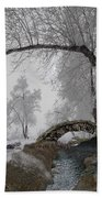 Footbridge Over The Creek Bath Towel
