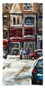 For Sale Original Paintings Montreal Petits Formats A Vendre Downtown Montreal Rue Stanley Cspandau  Bath Towel
