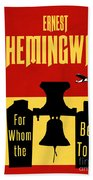 For Whom The Bell Tolls Book Cover Poster Art 1 Bath Towel