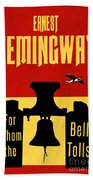 For Whom The Bell Tolls Book Cover Poster Art 2 Bath Towel