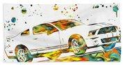 Ford Mustang Paint Splatter Bath Towel