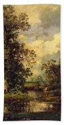 Forest Landscape 1840 Bath Towel