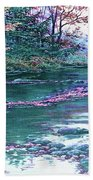 Forest River Scene. L A Bath Towel