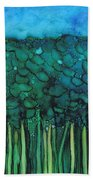 Forest Under The Full Moon - Abstract Bath Towel