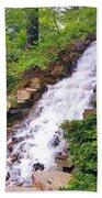 Forest Waterfall Bath Towel