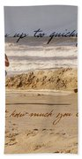Forever Young Quote Bath Sheet