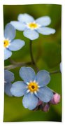 Forget-me-not Bath Towel