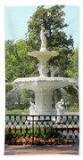 Forsyth Park Fountain Square Bath Towel