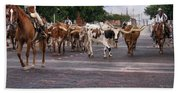 Fort Worth Cattle Drive Hand Towel