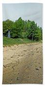Forty Mile Point Lighthouse Springtime Bath Towel