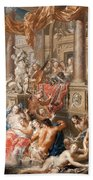 Fountain Scene In Front Of A Palace Bath Towel