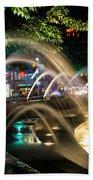 Fountains At Columbus Circle Hand Towel