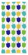 Four Dreidels Pattern- Art By Linda Woods Bath Towel