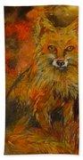 Fox Fire Bath Towel