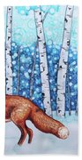 Fox Forest Hand Towel
