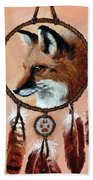 Fox Medicine Wheel Hand Towel by Brandy Woods