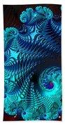 Fractal Art - Blue Wave Bath Towel
