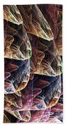 Fractal Filled Plastic Bags Bath Towel
