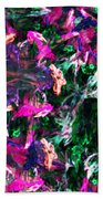 Fractal Floral Riot Bath Towel