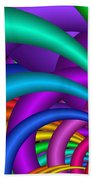 Fractalized Colors -6- Bath Towel by Issabild -